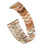 Amlaiworld Correa de Reloj para Huawei Watch GT,Marca de Lujo de Correas de Pulsera de Acero Inoxidable de reemplazo Pulseras Correas de Repuesto