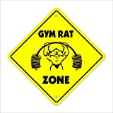 SignMission gymrat Crossing Sign Zone Xing |-| 30,5 cm Hoch Trainings Fitness Trainer Body Builder Muskeln