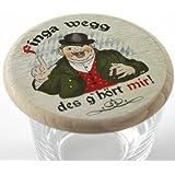 Kaltner Präsente Geschenkidee - Bierdeckel Insektenschutz aus echtem Holz mit Buntdruck HUMOR - FINGA WEGG