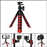 Mini Octopus Stativ, Smartphone Outdoor Stativ, Einsatz für eine Vielzahl von Smartphones und Kameras , red