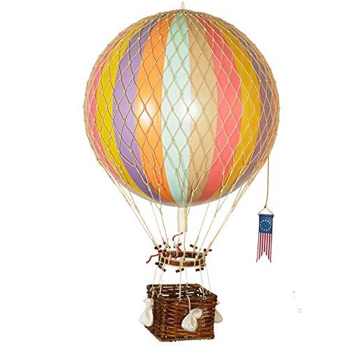 Authentic Models - Dekoballon, Heißluftballon, Ballon - Mobile - Ballon Regenbogen Pastel - Rainbow - 32 cm Durchmesser