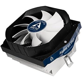 ARCTIC Alpine 64 PLUS - Flüsterleiser Prozessorkühler für AMD AM4 CPUs I bis zu 100 Watt Kühlleistung durch 92 mm PWM Lüfter - MX 4