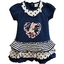 Vestido Minnie Disney para niñas manga corta color Azul 18 meses