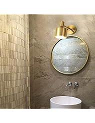 ChuanHan Ventilateur De Plafond Lumière Lustre Luminaires Applique Murale  Applique Murale Moderne Contemporain Créatif En Laiton