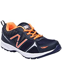 CF_Better Deals Mens Synthetic Mesh Navy Orange Coloured Sports Shoe| Running Shoes| Pro Running Shoes| Sprint...