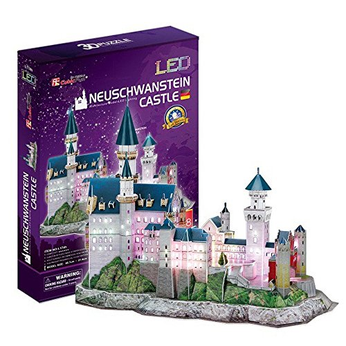 Georgie Porgy Puzzles 3D Jouet de Constructionpour Enfant Adulte (Swan Castle - LED)