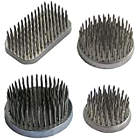 Mehrondo BI403 Kenzan - Juego de 4 piezas para arreglos florales (rectangular, 50 x 28 mm, 50 mm, 40 mm y 32 mm de diámetro)