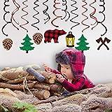 Sayala Holzfäller Hängedekoration Geburtstag Deckenhänger Spiral Girlanden für Kinderparty Junge und Mädchen Kinder