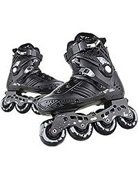 Patines en Línea para Adultos de una Hilera Zapatos Profesionales de Patinaje de Velocidad en Línea Fibra Carbono para Deportes al Aire Libre Fitness para Hombres Patines Ruedasblack-43