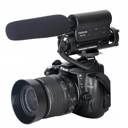 Richtrohrmikrofon Pro Richtrohrmikrofon Photografie Interview MIC Mikrofon Professionelle DV Stereo Mikrofon Kamera Stereo Mikrofon für Nikon Canon kamera DV Camcorder (Shotgun Mic Canon)
