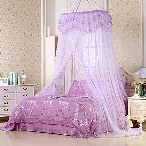 uus Moustiquaires Moustiquaires Canapé Hook Palace 1.8m M Lit Suspendu Plafond Double Maison 1.5 M Princesse Vent Simple Mosquito Pest Control Poussière Mosquito Nets ( Couleur : Violet , taille : 1.2m Bed )