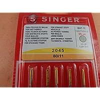 Singer Jerseynadel 2045 80/11 Nadel, Metall, Silber, 7 x 0,03 x 4 cm, 5-Einheiten