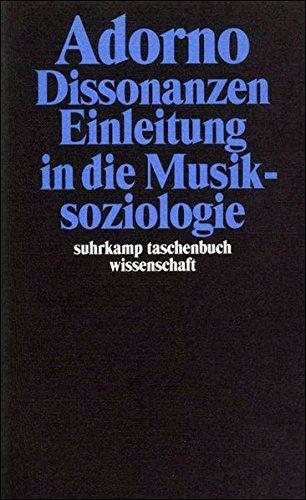 Gesammelte Schriften in 20 Bänden: Band 14: Dissonanzen. Einleitung in die Musiksoziologie (suhrkamp taschenbuch wissenschaft)