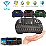 2.4G Backlit Wireless Touchpad Keyboard Air Mouse per PC Pad Android TV Box - SamMoSon 2.4G Retroilluminato Mouse volante
