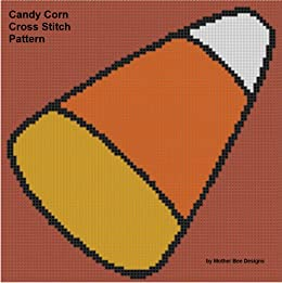 Candy Corn Cross Stitch Pattern (English Edition) di [Designs, Mother Bee]