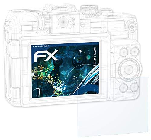 atFoliX Schutzfolie kompatibel mit Leica M-E Typ 240 Panzerfolie, ultraklare und stoßdämpfende FX Folie (3X)