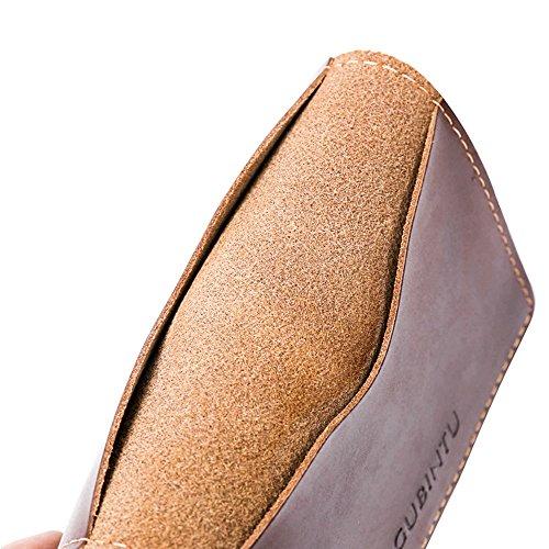 Valentoria® Männer hochwertiges echtes Leder Geldbörse Geldbörse, Geschenk für Männer braun