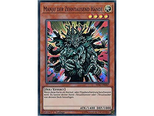 Manju der Zehntausend Hände - HISU-DE047 - Yu-Gi-Oh - deutsch - 1. Auflage - NIFAERA Spielwaren