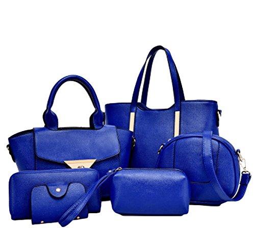 Sacchetto Di Sacchetto Dell'unità Di Elaborazione Della Signora Sei Insiemi Della Borsa Del Sacchetto Di Spalla Borsa Messenger Bag Atmosfera Semplice Blue