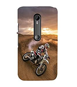 printtech Dirt Motocross Motorcycle Back Case Cover for Motorola Moto G Turbo Edition