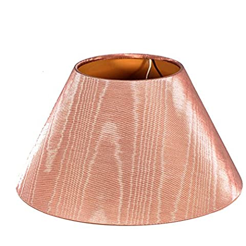 Lampshade in rose made of fabric, TL Schirm unten Ø35cm