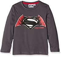 DC Comics Boy's Batman Vs Superman T-Shirt, Grey (Anthracite), 8 Years
