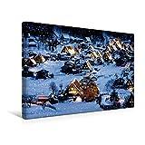 Premium Textil-Leinwand 45 cm x 30 cm quer, Shirakawa-go in Japan | Wandbild, Bild auf Keilrahmen, Fertigbild auf echter Leinwand, Leinwanddruck (CALVENDO Orte)