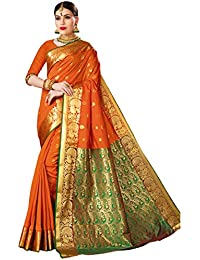 Craftsvilla Art Silk with Blouse Piece Saree (MCRAF22940604960_Orange_Free)