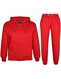 A2Z 4 Kids Kids Girls Boys Plain Tracksuit Hooded Hoodie Bottom Jogging Suit Joggers New Age 2 3 4 5 6 7 8 9 10 11 12 13 Years