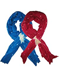 Goodluck Cotton Scarf Set Of Two Mullticoloured Stoles; Scarf And Stoles For Women … - B06X18DMF1