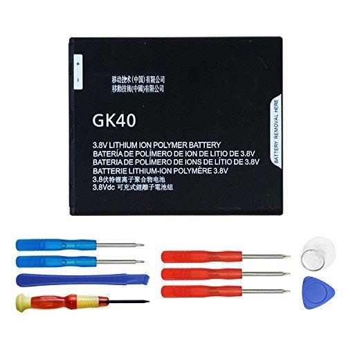 Swark GK40 - Batteria compatibile con Motorola Cedric Moto E3, Moto E4, Moto G4 Play, Moto G5, XT1601 XT1603 XT1675 con strument