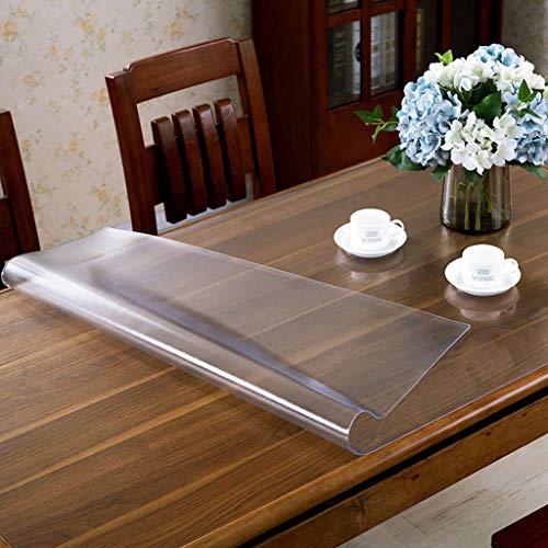 Danggl tovaglia trasparente,pvc anti-scottatura in plastica morbida tavolo in vetro opaco tavolo da tè rettangolare custodia protettiva quadrata (colore : 2mm, dimensioni : 70cm*130cm)