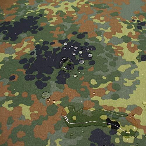 TOLKO Bundeswehr Camouflage   WASSERDICHT   als Zelt- und Planen-Stoff Meterware   Mittelschweres Flecktarn Segeltuch