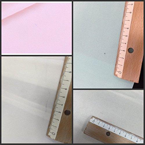 Prettystern - 90 cm écharpe de soie 2 couleurs 100% soie (14mm lourd crêpe satin soie) - sélection des couleurs beige/bleu foncé