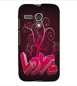 ColourCraft Valentine Love Back Case Cover for MOTOROLA MOTO G X1032