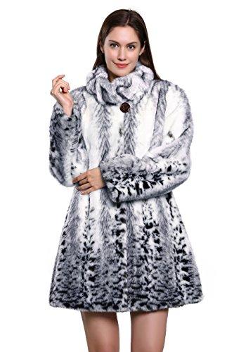 Adelaqueen Snow Leopard delle donne stampa unica