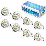 Elinkume 8X Ampoules LED GU10 6W Spot LED 5630 SMD LED Lampes GU10 Blanc Froid Ampoule Basse Consommation 480-500LM LED Bulb AC 85-240V