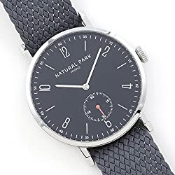 Waterproof Men & Woman Dress Watches with Black Dial Grey Nylon Watch Band Arabic Display