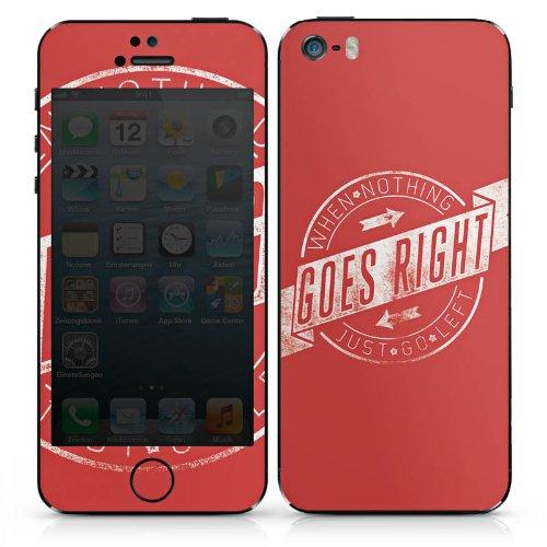 Apple iPhone 4s Case Skin Sticker aus Vinyl-Folie Aufkleber Motivation Leben Statement DesignSkins® glänzend