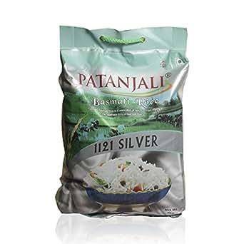 Patanjali Basmati Rice - Silver, 5kg Bag