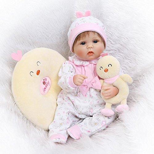 Nicery Reborn Baby Doll Réincarné bébé Poupée Doux Simulation Silicone Vinyle 18...