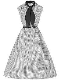 E-Girl M123618D Robe de bal Vintage pin-up 50's Rockabilly robe de soirée cocktail,S-XXXXL