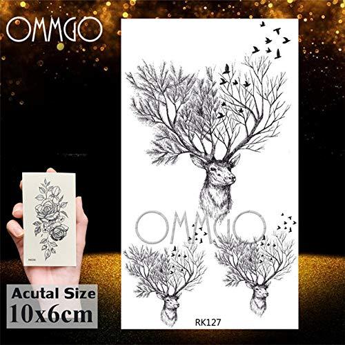 Geometrische 5Pcs- Elk Deer Dreieck Tattoo - Aufkleber Tattoo Body Art Arm Kinder Frauen Männer Illstration-In - Tätowierung auf Gr Ork127 -
