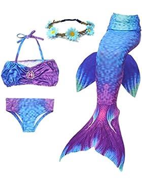 El traje de baño determinado de la princesa Bikini del traje de baño de la sirena Tai de las muchachas 3PCS puede...