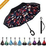 Best Plemo Accessoires Classique Parapluies - Parapluie Inversé Ouverture Manuel Double Parapluie Couche Creative Review