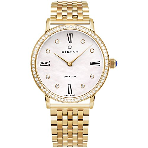 Eterna Eternity Lady Quartz Watch, ETA 956.412, PVD, Rose Gold, Diamonds, 32mm