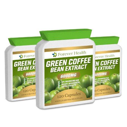Green Coffee Bean Extract Max Strength Fat Burner 90 Pills Lose