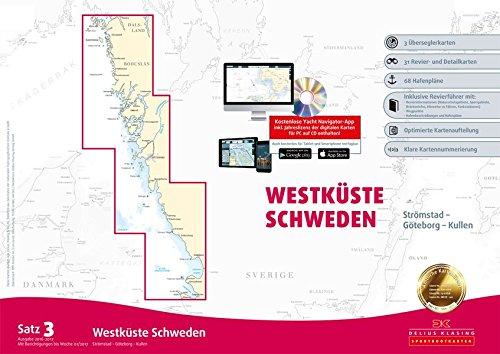 Sportbootkarten Satz 3: Westküste Schweden (berichtigt bis 01/2017): Strömstad bis Kullen