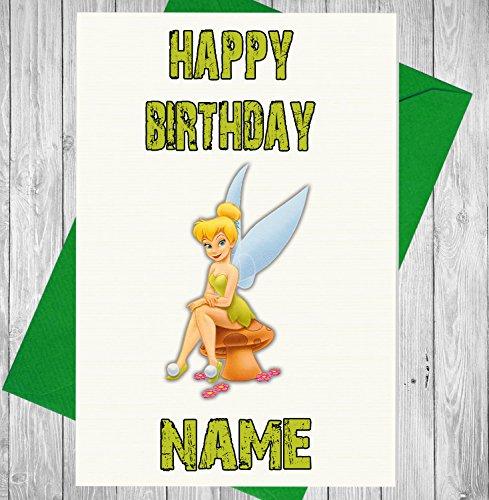 Tinkerbell Disney Personalised Birthday Card