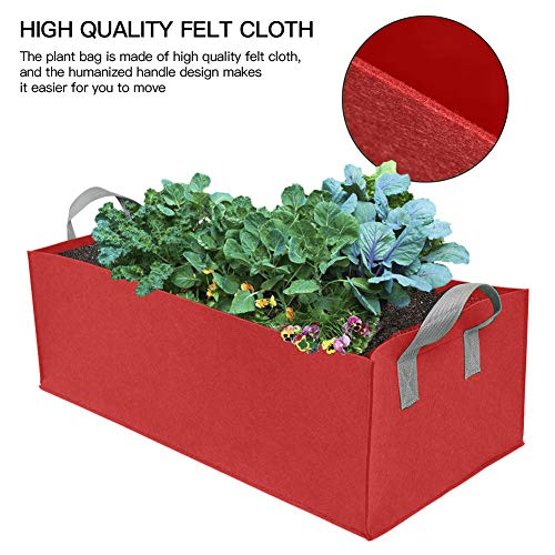 SDGDFXCHN Rectangle Planting Bag Non-Woven Aeration Fabric Pots with Handles Garden Grow Bags Planter Pouch Root Container Plant Growing Pot for Flowers Vegetables -